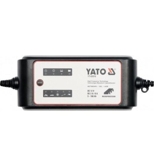Электронное зарядное устройство (12V; 2/8A; 5-160Ah) YATO (YT-83016)