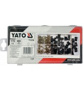 Саморезы и клипсы (набор 170шт) YATO (YT-06780)