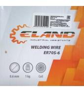 Проволока сварочная омедненная (кутушка 1кг) 0,6мм ELAND (ER70S-6-2)