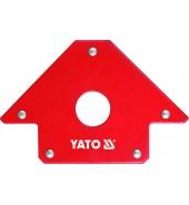 Струбцина магнитная для сварки 102х155х17мм с отверстием d18мм (22,5кг.) YATO (YT-0864)