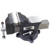 """Тиски стальные поворотные с наковальней + захват для труб 5""""-125мм ROCK FORCE (6540205M)"""