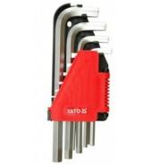 Набор ключей HEX (6-гр.) 2-12мм CrV (10пр.) YATO (YT-0508)