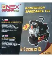 Компрессор воздушный 10л. 2 кв. 206 л/мин. ONEX (OX-1003)