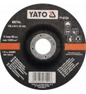Круг для шлифования металла 125х6,0х22мм YATO (YT-6124)