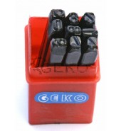 Набор клейм цифры 8мм (9шт) GEKO (G01811)