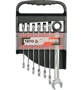 Набор ключей рожково-накидных с трещ. (7пр.) YATO (YT-0208)