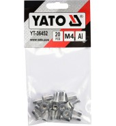 Заклепки резьбовые М4, 20шт YATO (YT-36452)