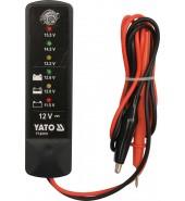 Тестер аккумуляторов индикаторный 12V YATO (YT-83101)