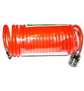 Шланг полиэт. спиральный ф 6/8 мм с быстросъемн. соед.  (длина 10 м)  ECO (AHE-108)