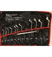 Набор накидных ключей изогнутых 6-32мм (12пр.) GEKO (G11544)