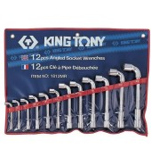 Набор ключей торцевых Г-образных 8-24мм (12пр.) KING TONY (1812MR)