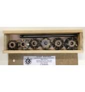 Набор зенкеров для ремонта седел клапанов двигателя 7 зубов РОССИЯ (01-083)