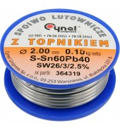 Припой для пайки Sn60Pb40, 2,0мм/100г CYNEL (76818)