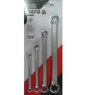 Набор ключей накидных Е-профиль 4пр. (Е6-Е24) YATO  (YT-0530)
