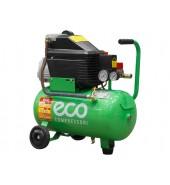 Компрессор (260 л/мин, 8 атм, 24 л, 220 В, 1.80 кВт) ECO (AE-251-2)