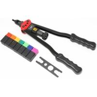 Заклепочник двуручный резьбовой усиленный со шкалой затяжки от 0-10мм(L - 380мм, резьбовые адаптеры - М3, М4, М5, М6, М8, М10, М12) FORSAGE (F-67805)