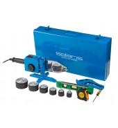 Сварочный аппарат для полимерных труб (1500 Вт; 6 насадок: 20 - 63 мм; 2 режима нагрева; доп.аксессуары) SOLARIS (PW-1501)