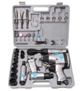 Набор пневмоинструмента в комплекте с аксессуарами (гайковерт, трещотка, зубило, бормашинка) 34пр, PARTNER (PA-LX-018)