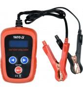 Тестер аккумуляторов цифровой 12V, CCA200-1200A LED YATO (YT-83113)