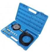 Тестер давления масла в наборе с резьбовыми адаптерами 12пр., (0-28bar), в кейсе ROCK FORCE (RF-910G1)