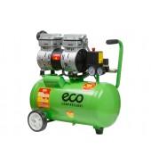 Компрессор (140 л/мин, 8 атм, поршневой, безмасляный, ресив. 24 л, 220 В, 0,8 кВт) ECO (AE-25-OF1)