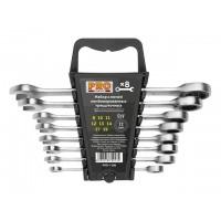 Набор ключей комбинир. 8-19мм 8шт трещоточных PRO STARTUL (PRO-7108)