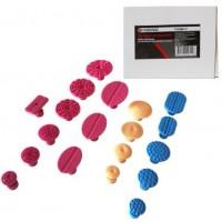 Набор адаптеров пластиковых для беспокрасочного удаления вмятин,19пр. FORSAGE (F-915M1-P)
