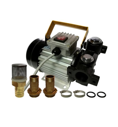 Насос профессиональный для перекачки масла и топлива 230V 70L/min SILVER (1092)