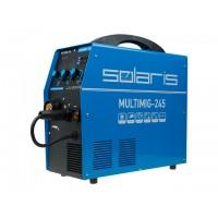 Полуавтомат сварочный  евроразъем; горелка 3м; смена полярности) SOLARIS MULTIMIG-245 (MIG/MMA/TIG)