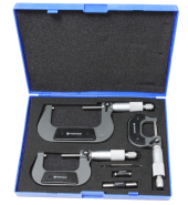 Набор микрометров, 3пр. (0-25, 25-50, 50-75мм, 0.01мм), в футляре FORSAGE (F-5096P03)