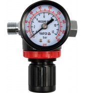 """Регулятор давления (редуктор) 1/4"""" с манометром YATO (YT-2381)"""