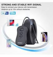 Видеоскоп WIFI беспроводной 5,5мм, 1080 P HD водостойкий с подсветкой для iPhone, Android и планшетов (FOXWELL)