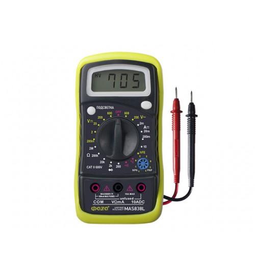 Мультиметр цифровой ФАZА (MAS838L)