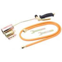 Горелка газовая с насадками и гибким шлангом (насадки-25,35,50мм; L-670мм;L шланга-1.5м) на блистере FORSAGE (F-0525GB)
